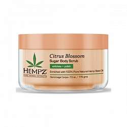 Cкраб для тела с лимоном / Hempz Citrus blossom herbal sugar body scrub  176 гр