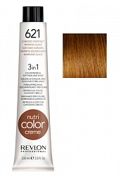 Краска для волос карамельно-каштановый / Revlon Nutri Color Creme 621  100 мл